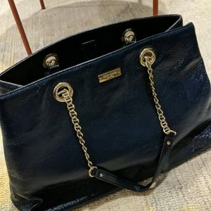 Kate Spade Blue Patent Leather Bag